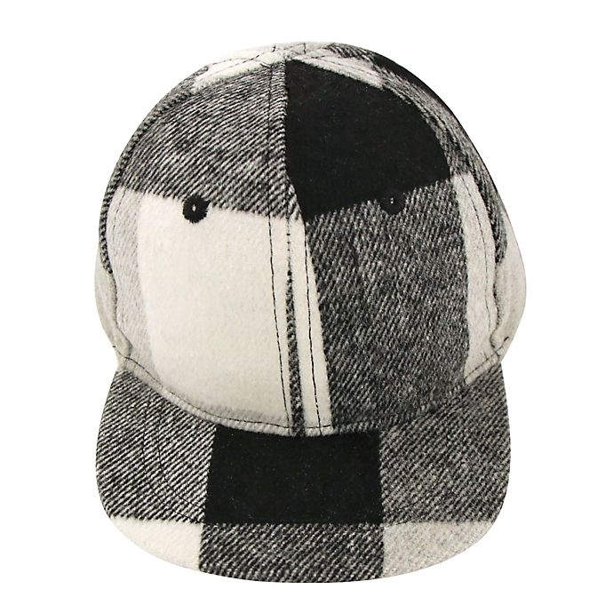 Alternate image 1 for Addie & Tate Newborn Plaid Cap in Grey