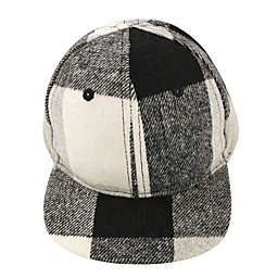Addie & Tate Infant Plaid Cap in Grey