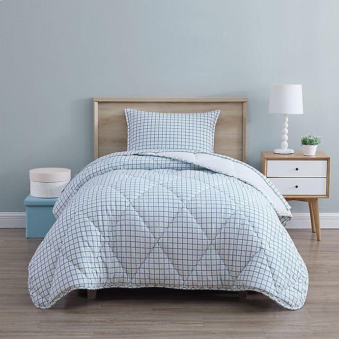 Alternate image 1 for UGG® Juvie 3-Piece Full/Queen Flannel Comforter Set in Mint Tatter