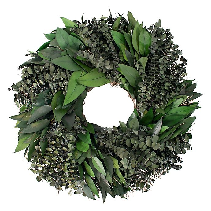 Alternate image 1 for Bee & Willow™ Home 28-Inch Mixed Eucalyptus Wreath