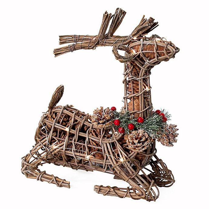 Alternate image 1 for Bee & Willow™ Home 12-Inch Wire Lightup Potpourri Deer in Natural