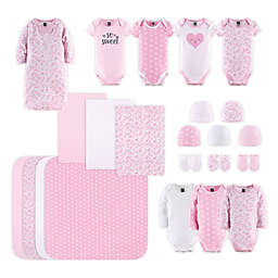 PS by The Peanutshell™ Size 0-3M 23-Piece Floral Love Layette Set in Pink