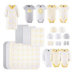 PS by The Peanutshell™ Size 0-3M 23-Piece Sunshine Jungle Layette Set in Yellow/Grey