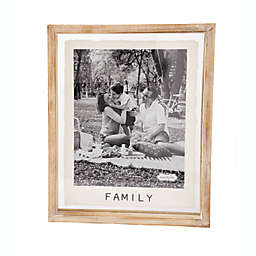 """Mud Pie® """"Family"""" 8-Inch x 10-Inch Picture Frame in Brown"""