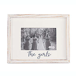 """Mud Pie® """"The Girls"""" 4-Inch x 6-Inch Picture Frame in White"""