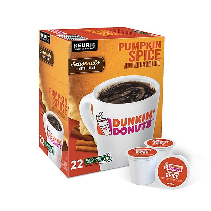 Alternate image 1 for Dunkin' Donuts® Pumpkin Spice Flavored Coffee Keurig® K-Cup® Pods 22-Count