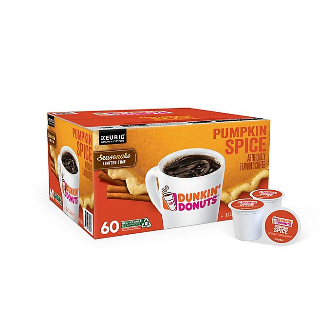 Alternate image 1 for Dunkin' Donuts® Pumpkin Spice Flavored Coffee Keurig® K-Cup® Pods 60-Count