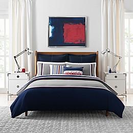 Tommy Hilfiger® Sport Stripe 3-Piece Comforter Set in Grey