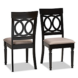 Baxton Studio™ Roch Fabric Dining Chairs in Brown (Set of 2)
