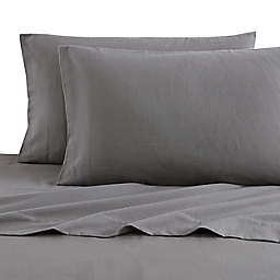 Bee & Willow™ Home Solid Flannel Queen Sheet Set in Charcoal