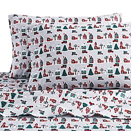 Bee & Willow™ Home Christmas Village Flannel Sheet Set