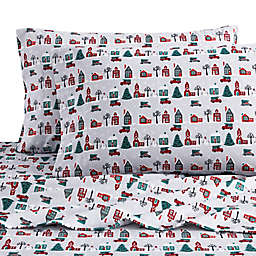 Bee & Willow™ Home Christmas Village Flannel Standard/Queen Pillowcases (Set of 2)