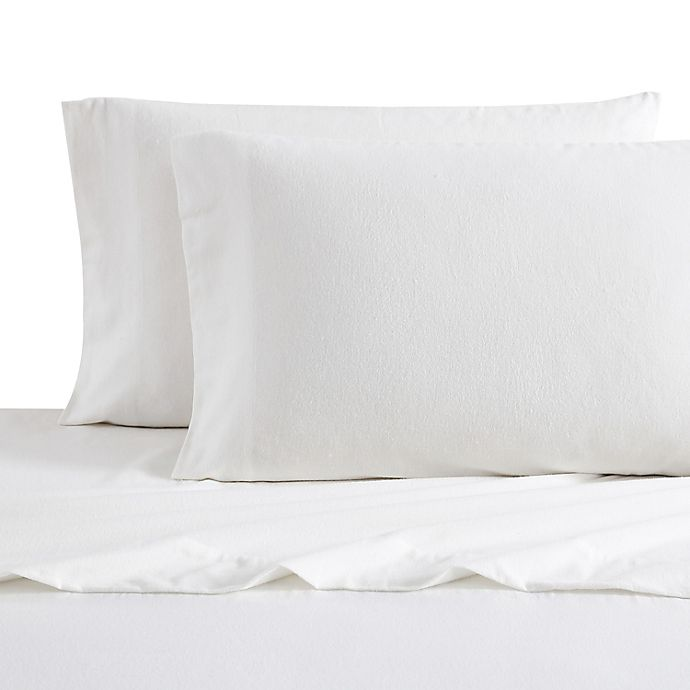 Alternate image 1 for Bee & Willow™ Home Solid Flannel King Sheet Set in White
