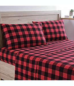 Set de sábanas individuales de algodón Bee & Willow™ Home a cuadros color rojo/negro