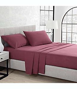 Set de sábanas king de franela UGG® color rojo cabernet