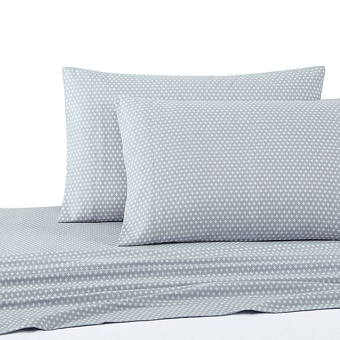 Alternate image 1 for UGG® Flannel Standard/Queen Pillowcases in Blue Diamond (Set of 2)