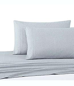 Fundas estándar/queen de franela para almohadas UGG® con diseño de diamantes color azul, Set de 2 piezas