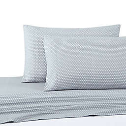 UGG® Flannel Full Sheet Set in Blue Diamond