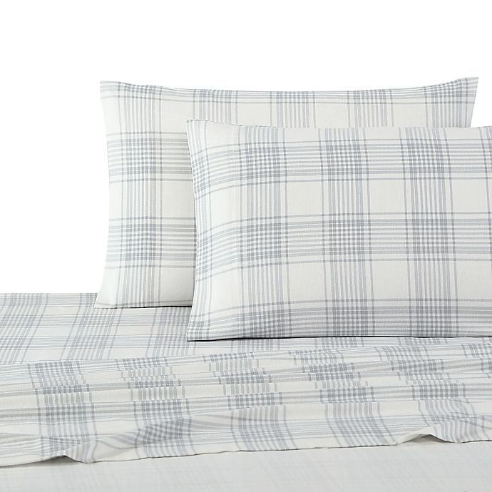 Alternate image 1 for UGG® Flannel Twin Sheet Set in Grey Plaid