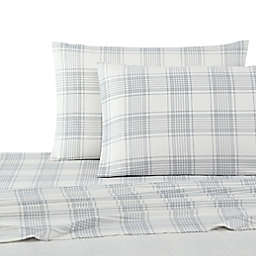 UGG® Flannel Queen Sheet Set in Grey Plaid