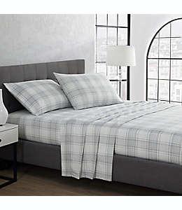 Set de sábanas king de franela UGG® a cuadros color gris