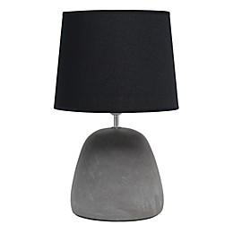 Simple Designs Round Concrete Table Lamp