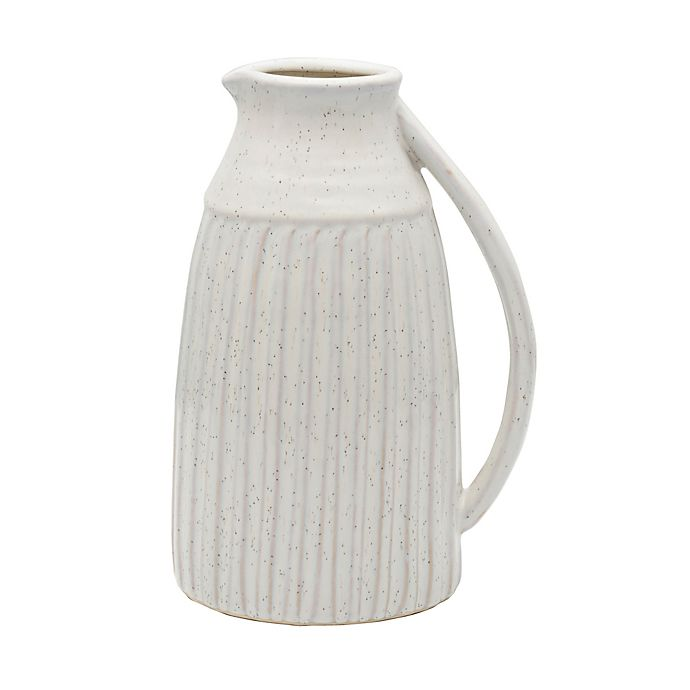 Alternate image 1 for Bee & Willow™ Home Small Ceramic Pitcher Vase in White