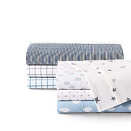 UGG® Juvie Flannel Twin Sheet Set in Sky Blue