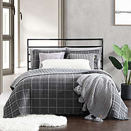 UGG® Colin 2-Piece Reversible Twin Quilt Set in Charcoal Plaid