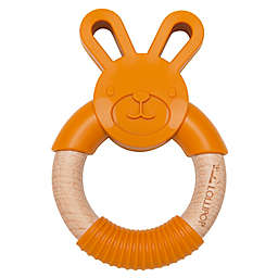 Wood and Silicone Bunny Teething Ring