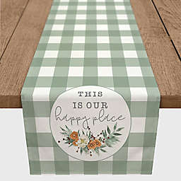 "Designs Direct ""This is our Happy Place"" Table Runner in Green"