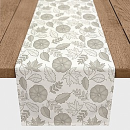 Designs Direct Pumpkin Pattern Table Runner in Grey