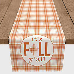 """Designs Direct """"It's Fall Y'all"""" Table Runner in Orange"""