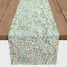 Designs Direct Autumn Leaf Table Runner in Green