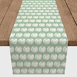 Designs Direct Pumpkin Pattern Table Runner in Sage Green