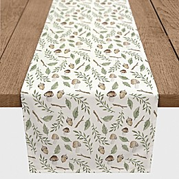 Designs Direct Autumn Woodland Table Runner in Green