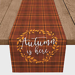 "Designs Direct ""Autumn is Here"" Plaid Table Runner"