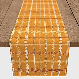 Designs Direct Fall Plaid Table Runner in Orange