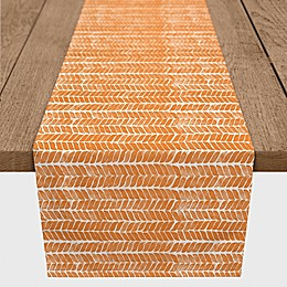 Designs Direct Fall Herringbone Table Runner in Orange