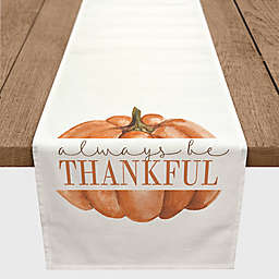 "Designs Direct ""Always be Thankful"" Table Runner in White"