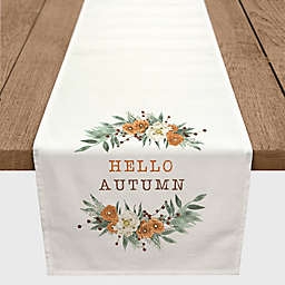 "Designs Direct ""Hello Autumn"" Table Runner in White"