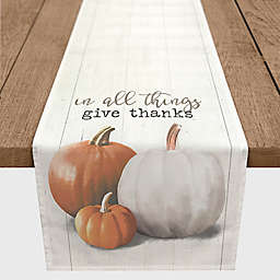 "Designs Direct ""In All Things Give Thanks"" Table Runner in Orange"