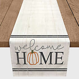 "Designs Direct ""Welcome Home"" Table Runner in White"