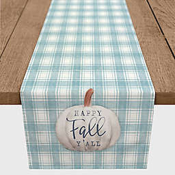 "Direct Designs ""Happy Fall Y'all""   Stripes Table Runner in Blue"