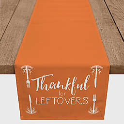 "Designs Direct ""Thankful for Leftovers"" Table Runner in Orange"