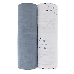 Ely's & Co. 2-Pack Dotties Cotton Muslin Swaddle Blankets