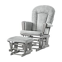Child Craft™ Forever Eclectic™ Tranquil Glider in Lunar Grey Finish with Ottoman