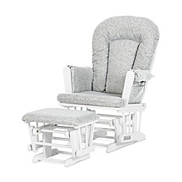 Child Craft™ Forever Eclectic™ Tranquil Glider in Matte White Finish with Ottoman