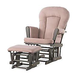 Child Craft™ Forever Eclectic™ Tranquil Glider in Dapper Grey/Blush with Ottoman