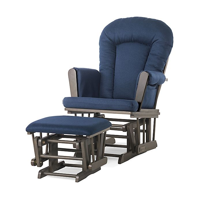 Alternate image 1 for Child Craft™ Forever Eclectic™ Tranquil Glider in Dapper Grey Finish with Ottoman